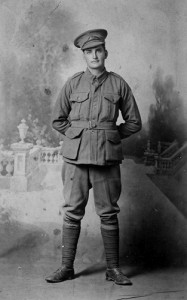Private Charles Campbell. Image courtesy Narelle Campbell.