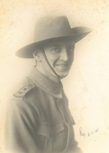 Reginald Arthur Smith, 6 August 1915. Image courtesy Mrs Ruth Velvin-Smith.