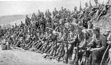 Austro-Hungarian troops rest during the Battle of Krasnik. Image courtesy Wikimedia.