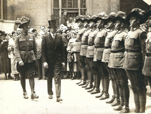 Claude Powter (left) in London in 1937 during the coronation of King George VI. Image courtesy meg Vaughan.