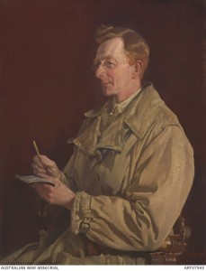 Charles Bean 1924. Portrait by George Lambert. Image courtesy Australian War Memorial.