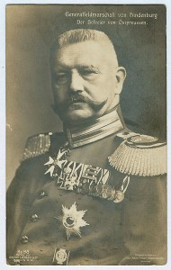 General Hindenberg 1914. Image courtesy Wikimedia.