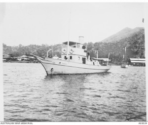 HMAS Nusa in Rabaul Harbour c1914