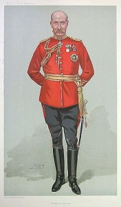 Caricature of Major-General Sir James Murray by Leslie Ward, published in Vanity Fair, 4 May 1905. Image in public domain.