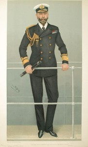 Caricature of Prince Louis of Battenberg, Vanity Fair, 16 February 1905. Image in public domain.
