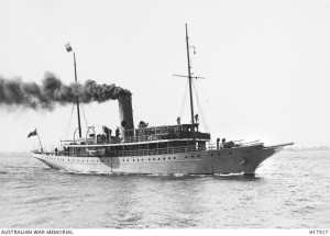 HMAS Una, October 1914. Image courtesy Australian War Memorial.