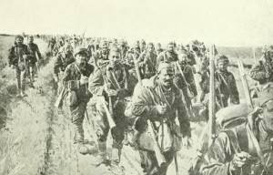 Serbian soldiers c1914. Image courtesy Wikimedia Commons.