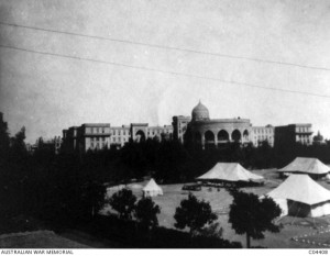 The Heliopolis Palace Hotel, where No. 1 Australian General Hospital was located during 1915 and early 1916. Image courtesy Australian War Memorial.