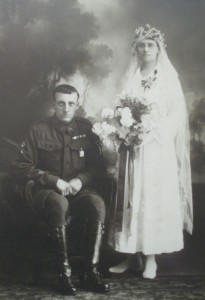 Harold and Annie Sykes on their wedding day. Image courtesy David Sykes.