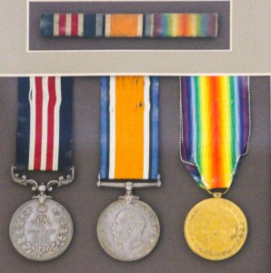 Vernon James Williams' war medals; the Military Medal is on the left. Image courtesy Julia Williams.