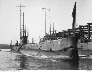 Australian Navy submarine AE2. Image courtesy Australian War Memorial.