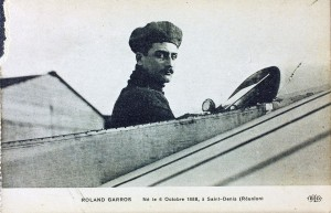 French aviator Roland Garros. Image in public domain.