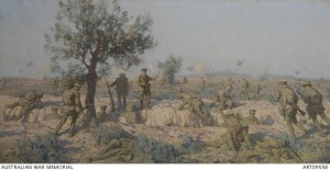 Charge of the 2nd Infantry Brigade at Krithia, 8 May 1915, Charles Wheeler. Image courtesy Australian War Memorial.