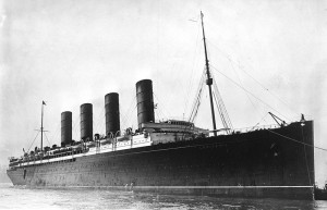 RMS Lusitania, George Grantham Bain. Image courtesy Library of Congress.