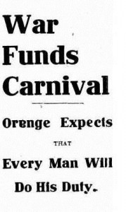 War Funds Carnival