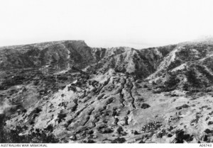 ANZAC support trenches at Braund's Hill, Gallipoli, 1915. Image courtesy Australian War Memorial.