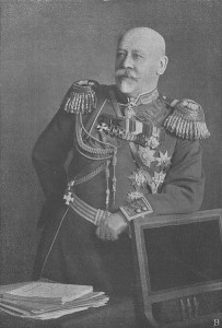 General Vladimir Sukhomlinov, the Russian Minister for War 1908-1915. Image in public domain.