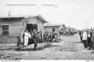 Allied prisoners of war Gustrow camp, Germany, 1915, Ernst Grantzow. Image courtesy Australian War Memorial.