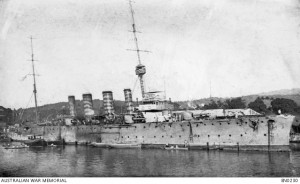 HMAS Sydney, 1915. Image courtesy Australian War Memorial.