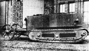 Little Willie, the first ever tank. Image in public domain.