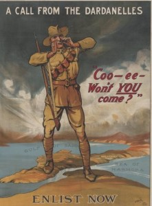 Coo-ee recruitment poster. Image courtesy Australian War Memorial.