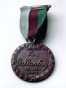The Dickin Medal was instituted UK in 1943 to honour the work of animals in war. Image in public domain.