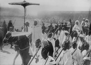 Senussi on their way to fight the English in Egypt, 1915. Image courtesy Bain News Service.