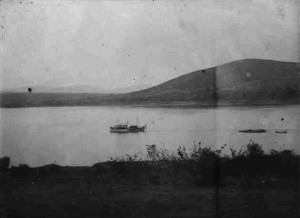 The Kingani on Lake Tanganyika 1915. Image courtesy Kolonialen Bildarchiv, Frankfurt.