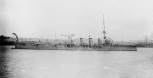 HMS Cleopatra 1915. Image courtesy Imperial War Museum.
