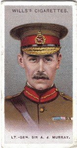 Cigarette card featuring Sir Archibald Murray 1915. Image courtesy WD & HO Wills.