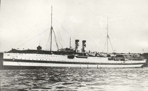 Russian hospital ship Portugal. Image courtesy http://www.messageries-maritimes.org/portugal.htm