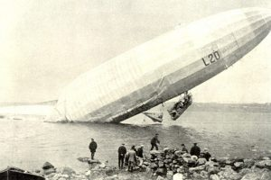 Zeppelin airship LZ-59 (L-20) stranded near Stavanger, Norway, 3 May 1916. Image courtesy Jean-Pierre Lauwers.