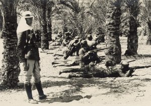 Ottoman troops at Katia. Image courtesy Library of Congress.