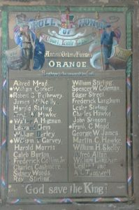 Ancient Order of Foresters' Orange Roll of Honor. Image courtesy Orange City Library.