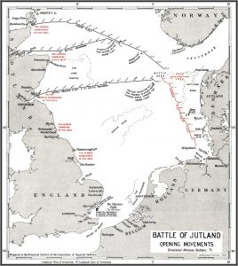 The Battle of Jutland, opening movements. Image courtesy Naval-History.net