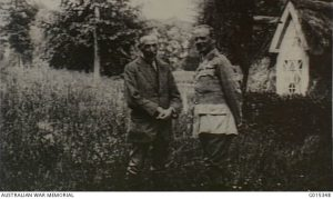 Australian Prime Minister William (Billy) Hughes and Lieutenant General Sir William Birdwood, France, June 1916. Image courtesy Australian War Memorial.
