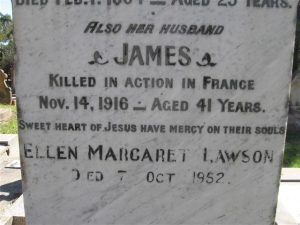 James Griffin memorial plaque, Orange Cemetery. Image courtesy Orange Cemetery.
