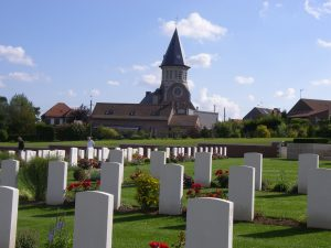 Fromelles Military Cemetery, France. Image courtesy Commonwealth War Graves Commission.