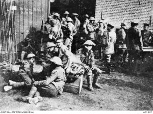 Australian prisoners of war at the German collecting station following the Battle of Fromelles, France, 20 July 1916. Image courtesy Australian War Memorial.