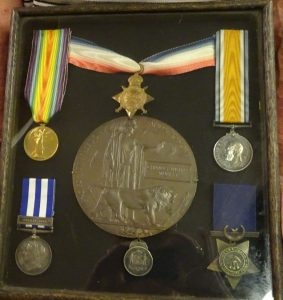 Murray Charles William's war medals. Image courtesy Image courtesy WE Agland RSL MBE Memorial Museum Orange.