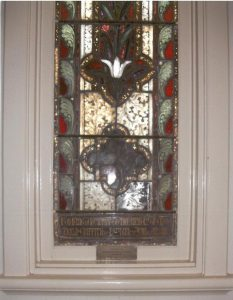 Gerald Griffith memorial window, Methodist Church, March. Image courtesy Irene Bartimote.