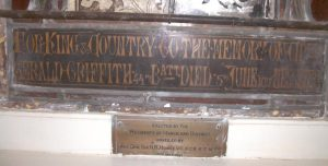 Gerald Griffith memorial plaque, Methodist Church, March. Image courtesy Irene Bartimote.