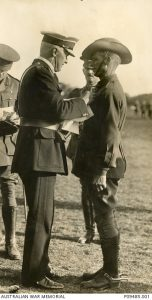 The Governor General awards Charles Grimson the Distinguished Conduct Medal (DCM), TD Cleary, 1915. Image courtesy Australian War Memorial.