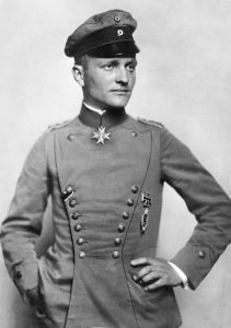 "Manfred von Richthofen, the ""Red Baron"", Nicola Perscheid, c1917. Image courtesy Postkartenvertrieb W Sanke."