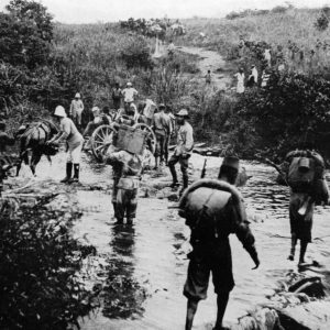Belgian troops during the Tabora Offensive, September 1916. Image in public domain.
