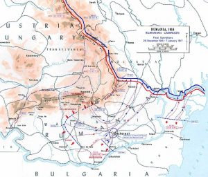 Operations in Romania November 1916 to January 1917. Image courtesy US Department of Military Art and Engineering.